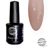 Rubber base gel shimmer pink silver 15ml