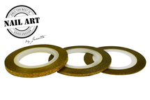 Striping Tape Gold Glitter 2mm