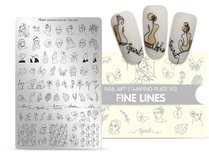 Moyra Stamping Plate 102 - Fine Lines