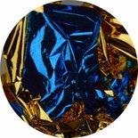 Bladgoud 06 blauw/goud