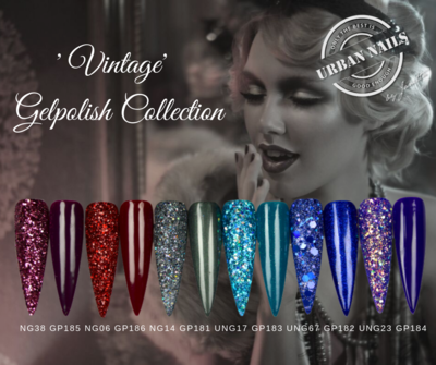 "Be Jeweled Gel Polish ""Vintage"" Collection + glitter"