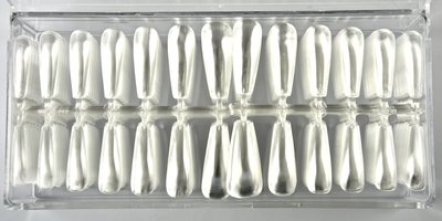 Press-on/Showtips Coffin Clear 72 stuks