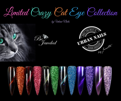 LIMITED CRAZY CAT EYE GEL POLISH en GLITTER COLLECTION