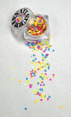 Mardi Gras 14 driehoek multicolor