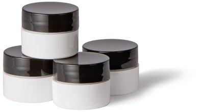 YN 1/4 oz MIXING JARS (WHITE, 4 pk)