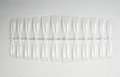 Press-on/Showtips Baby Stiletto clear 72 stuks