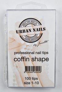 Coffin Shape tips 100st