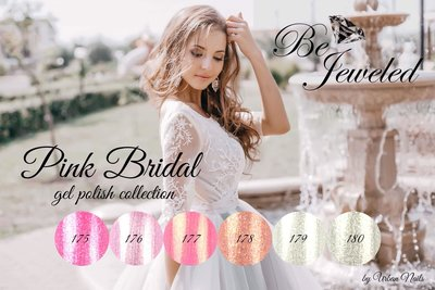 Be Jeweled Pink Bridal gel polish Collection